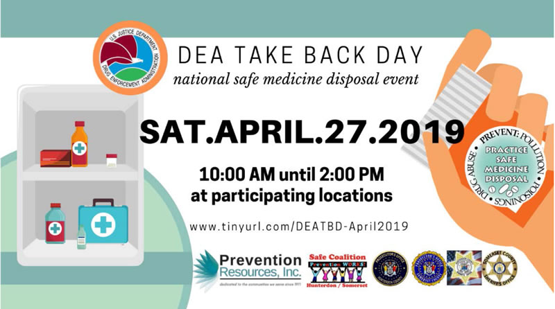 DEA Take Back Day Saturday April 27