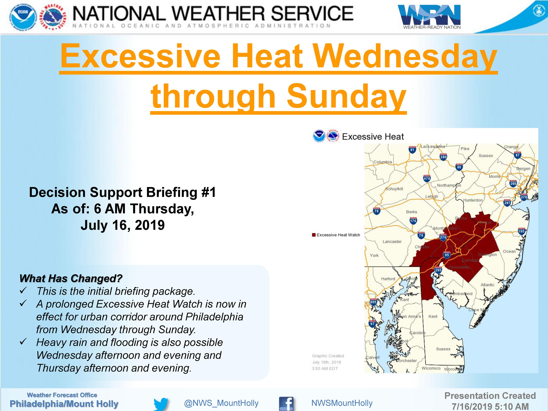 Excessive Heat Wednesday through Sunday